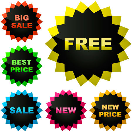 Vector collection of sale labels Stock Vector - 6084038
