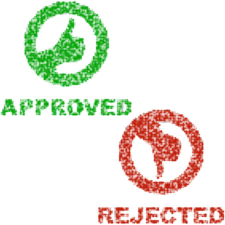 Approved and rejected elements.    Stock Vector - 6084421