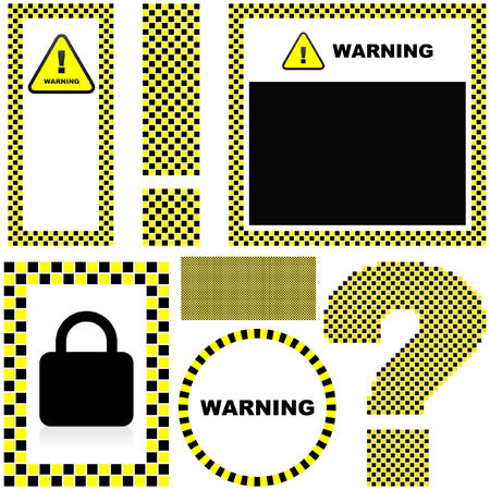 ejaculation: Warning vector label. Vector template.    Illustration