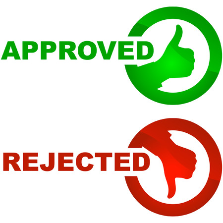 Approved and rejected icons.    Stock Vector - 6083873