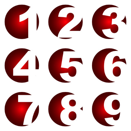 decimal: Number icons. Vector set.