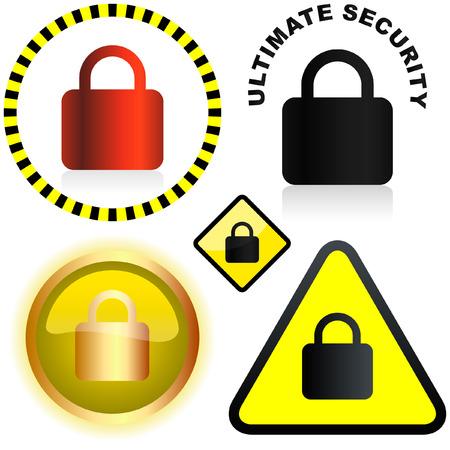 Lock icon. Vector set for web. Stock Vector - 6083987