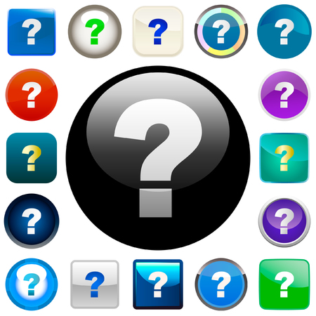 Question vector buttons.    Stock Vector - 6084205
