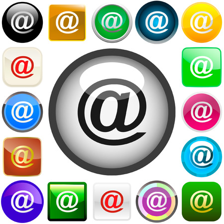 E-mail icon set for web. Stock Vector - 6084252