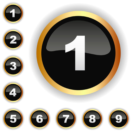 Numéros icônes. Vecteur ensemble.    Vecteurs