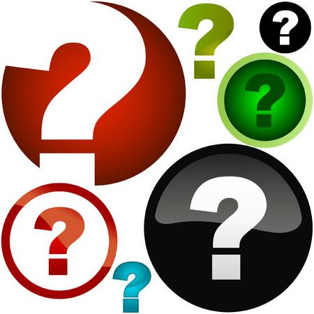 Question vector elements.    Stock Vector - 6083892