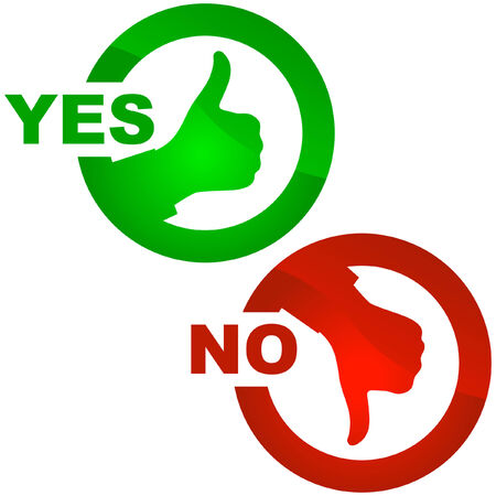 Yes and No icon. Vector beautiful icon set. Stock Vector - 6083911