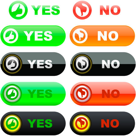 Yes and No icon. Stock Vector - 6084111