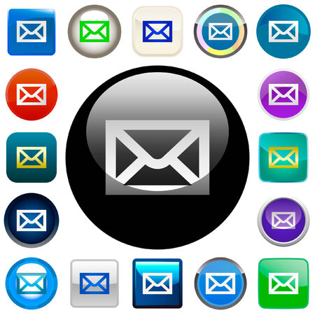 E-mail icon set for web.   Stock Vector - 6084196