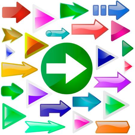 move arrow icon: Un conjunto de vectores de flechas �tiles. Gran colecci�n.