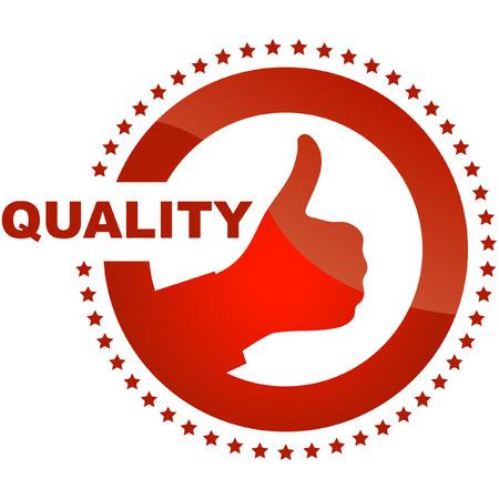 Qualität garantiert Zeichen Vektorgrafik