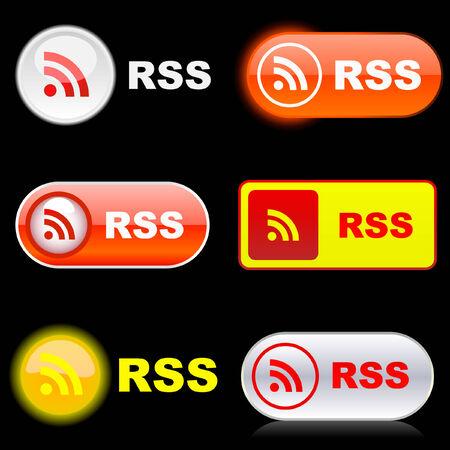syndication: Botones RSS.