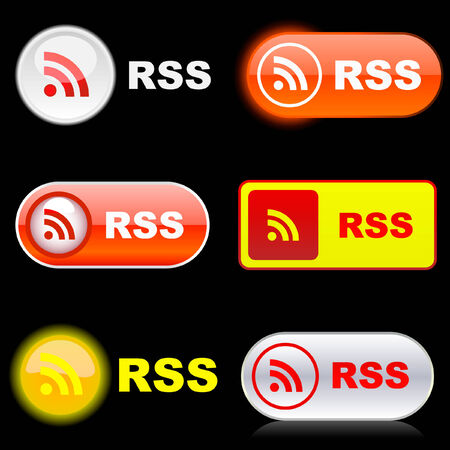 blogged: RSS buttons. Illustration