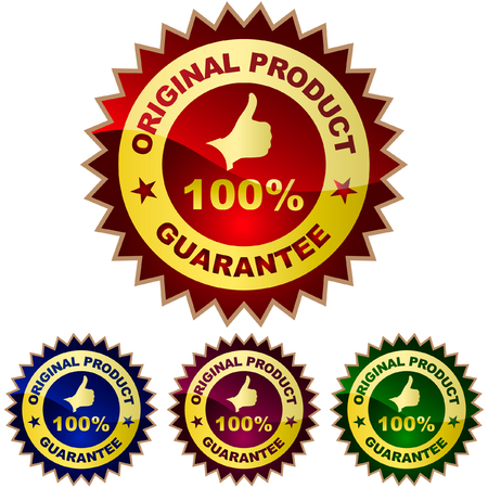 quality assurance: Vector guarantee label.