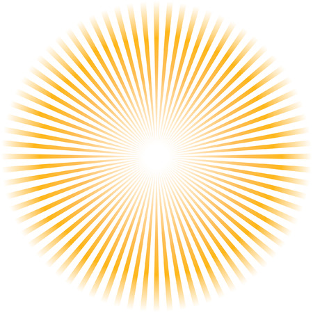 radial: Sunburst vector.