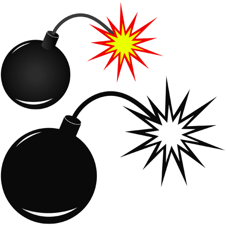 Vector bomb before explosion.  Stock Vector - 6084548