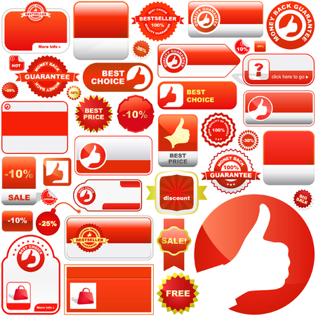 Sale signs. Vector great collection. Stock Vector - 6085394