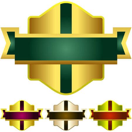 royal guard: Vector set of heraldic symbols