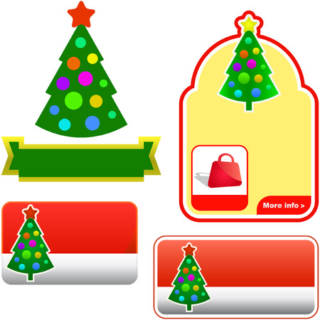 Set of New Years banners for advertising    Vector
