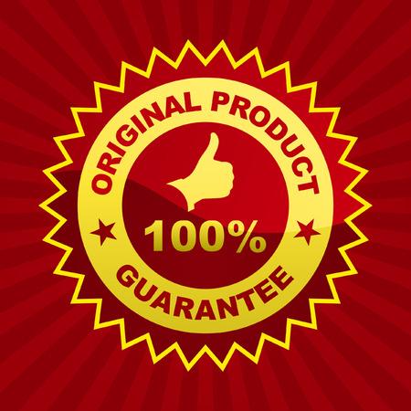 Vector guarantee label.   Vector