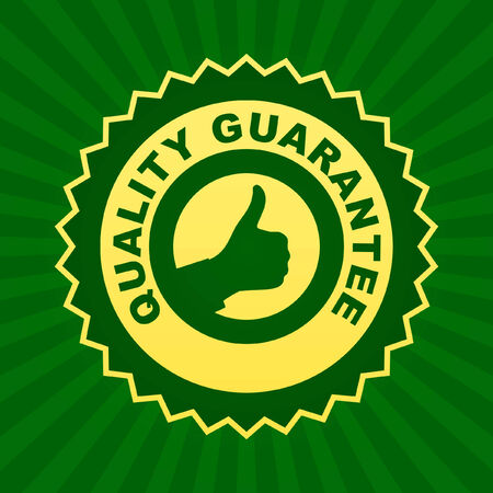 guaranty: Quality guarantee label.