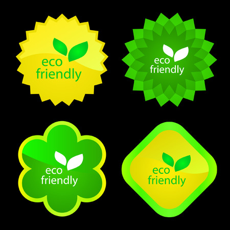 Set of natural labels.   Stock Vector - 6084741