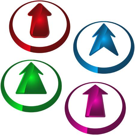 Arrow set vector for web design.   Vector