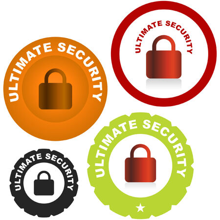 forbidden to pass: Lock icon. Vector set for web.