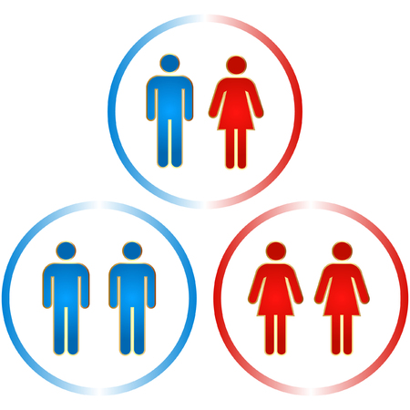 Men and women icons. Graphic elements set.    Stock Vector - 6084744