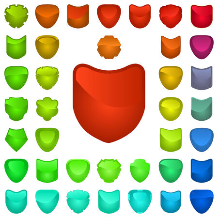 Vector set of heraldic symbols    Vector