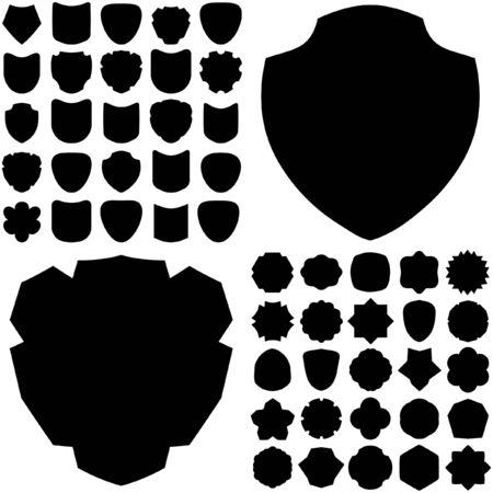 Vector set of heraldic symbols