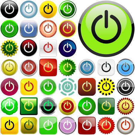 Vector power buttons for web Stock Vector - 6085308