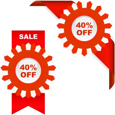 Discount label templates Stock Vector - 6084748