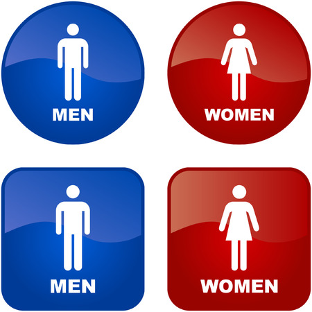 Men and women icons. Graphic elements set. Stock Vector - 6084559