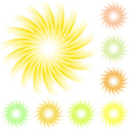Sunburst abstract vector.   Vector