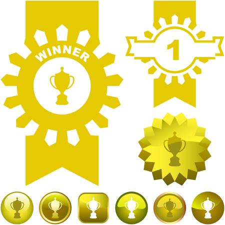 victor: Vector award set