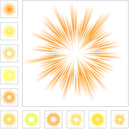 starburst: Sunburst abstract vector.  Vector great collection.   Illustration
