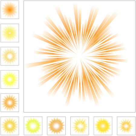 yellow shine: Sunburst abstract vector.  Vector great collection.   Illustration