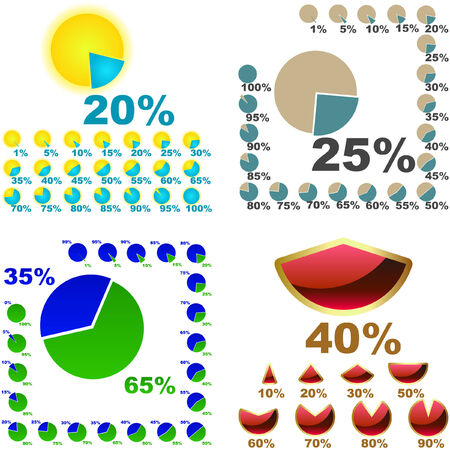 fraction: Business statistics vector. Great collection.   Illustration