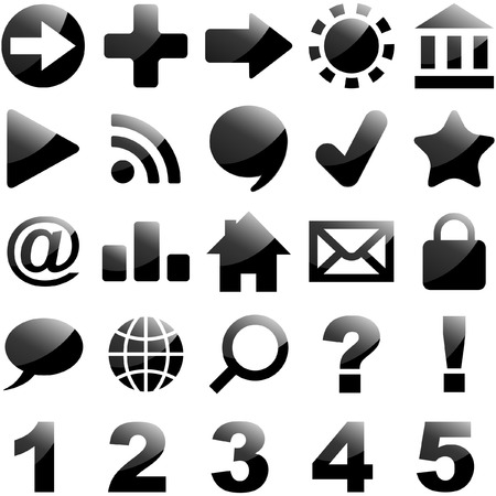 Black icon set   Stock Vector - 6084752