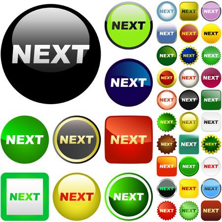 Next button. Vector set for web. Stock Vector - 6085284