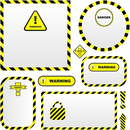 cautious: Banner de vector de advertencia. Plantilla de vector.  Vectores