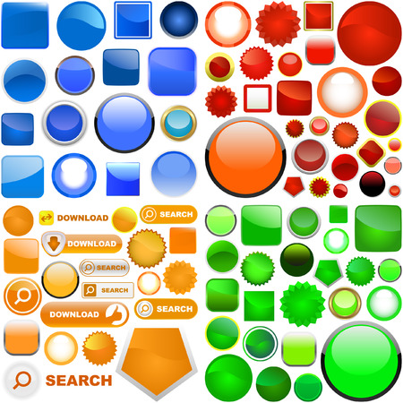Web buttons for design. Great collection.   Vector