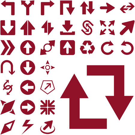 A vector set of useful arrows. Great collection. Stock Vector - 6084539