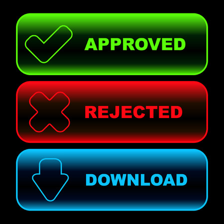 negative returns: Approved and rejected icons.