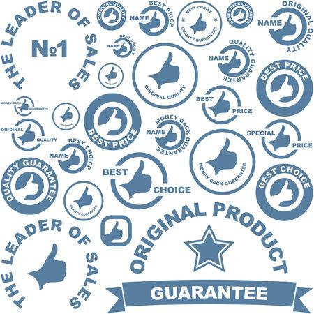 hot announcement: Colecci�n de vector de signos de venta