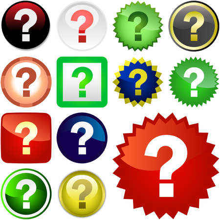 Question vector buttons Stock Vector - 6085095