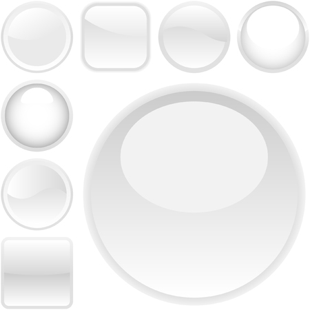 Web buttons for design. Vector set. Stock Vector - 6084693