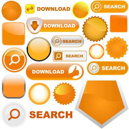 Vector collection of web elements Stock Vector - 6085146
