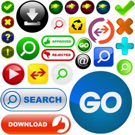 multi media: Vettore di grande raccolta di elementi web  Vettoriali